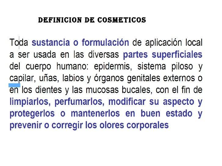 DEFINICION DE COSMETICOS