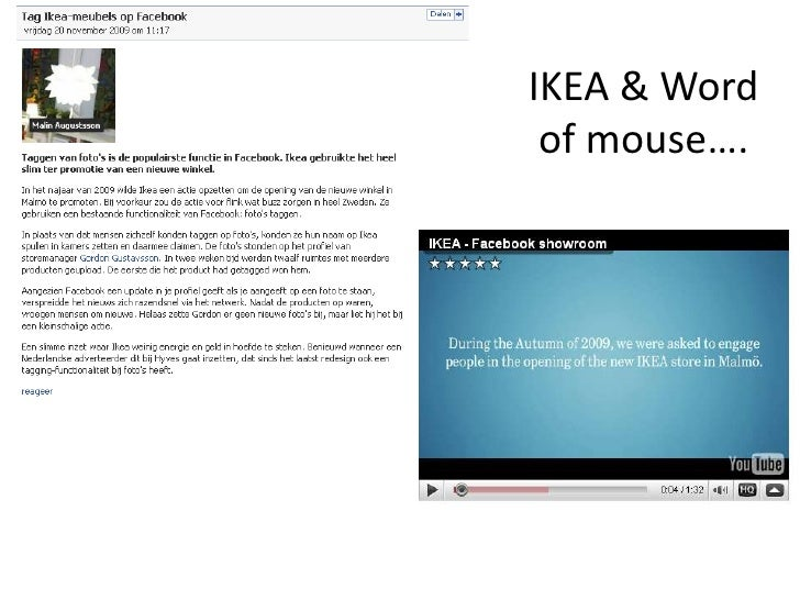 IKEA & Word of mouse….<br />
