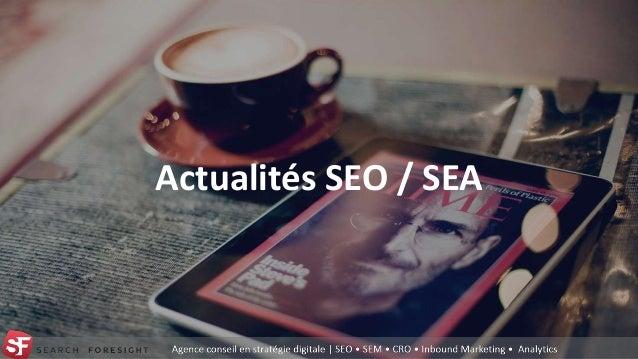 Actualités SEO / SEA