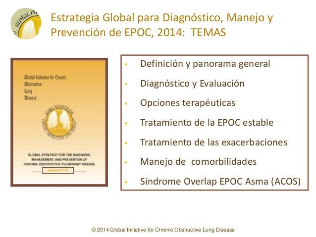 RESUMEN EN PPT de la Actualización GOLD de EPOC de Febrero 2014 EN ESPAÑOL Enfermedad Pulmonar Obstructiva Crónica Slide 3