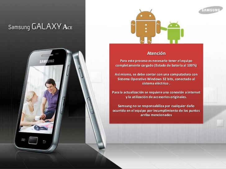Actualizacion Gingerbread 2.3 para galaxy ace Slide 2
