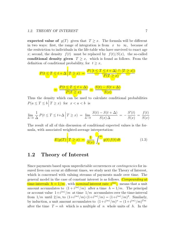 Actuary] actuarial mathematics and life table statistics