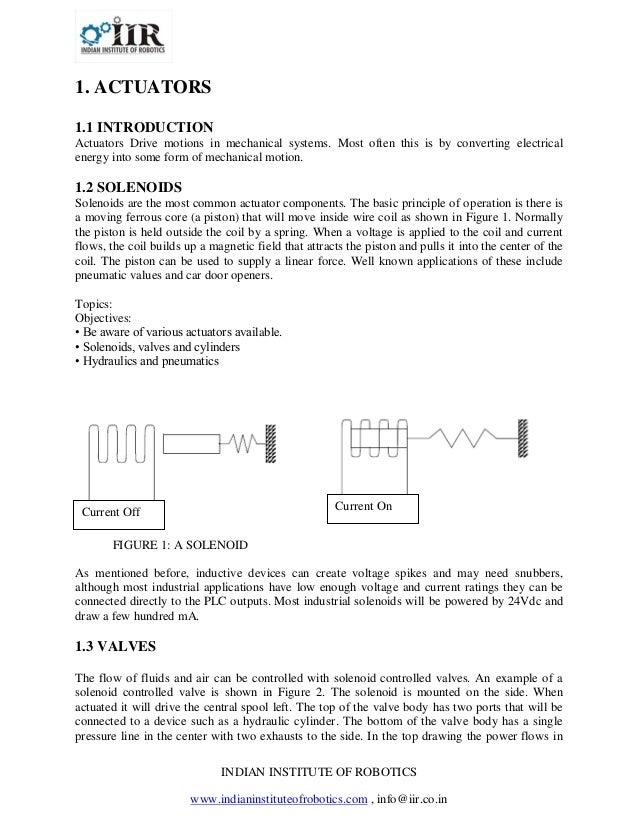 INDIAN INSTITUTE OF ROBOTICSwww.indianinstituteofrobotics.com , info@iir.co.in1. ACTUATORS1.1 INTRODUCTIONActuators Drive ...