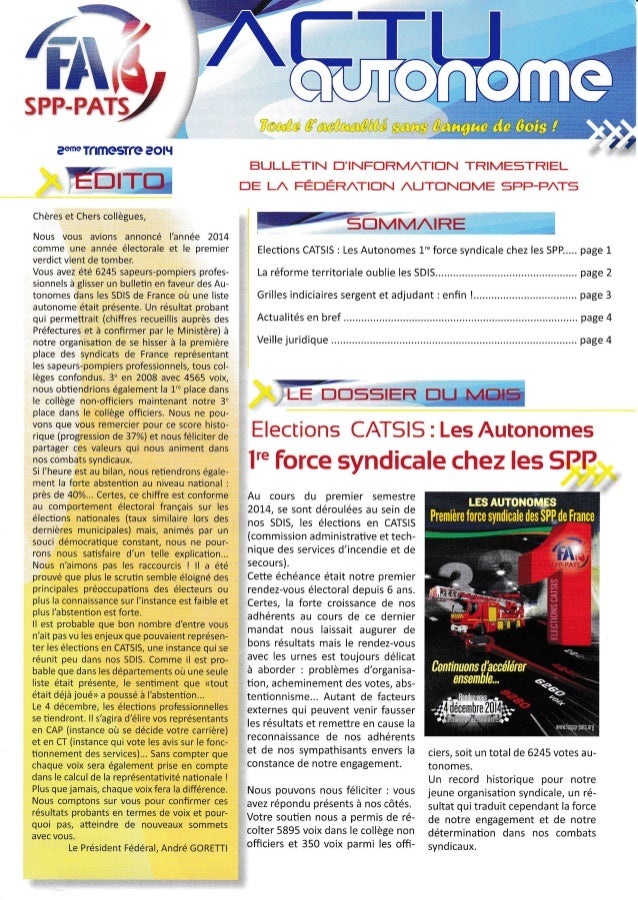 Actu autonome 2ème trimestre 2014