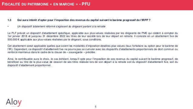 Imposition des plus values sur stock options