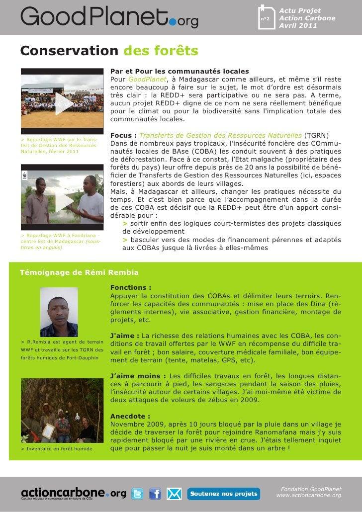 Actu Projet                                                                                  n°2   Action Carbone         ...