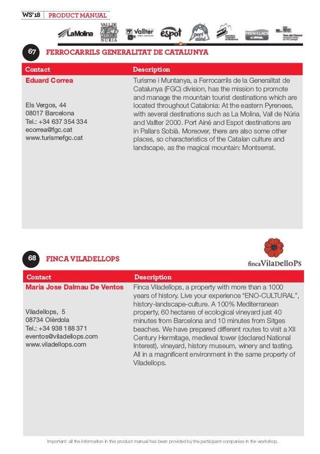 Produktmanual Buy Catalunya 2018