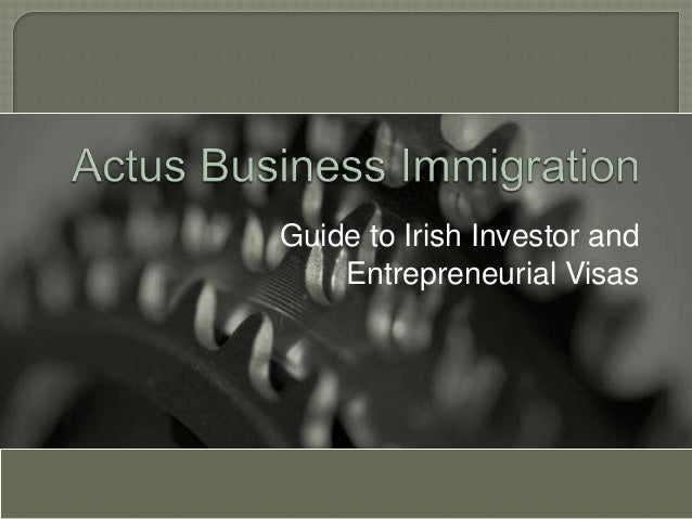 Guide to Irish Investor and    Entrepreneurial Visas