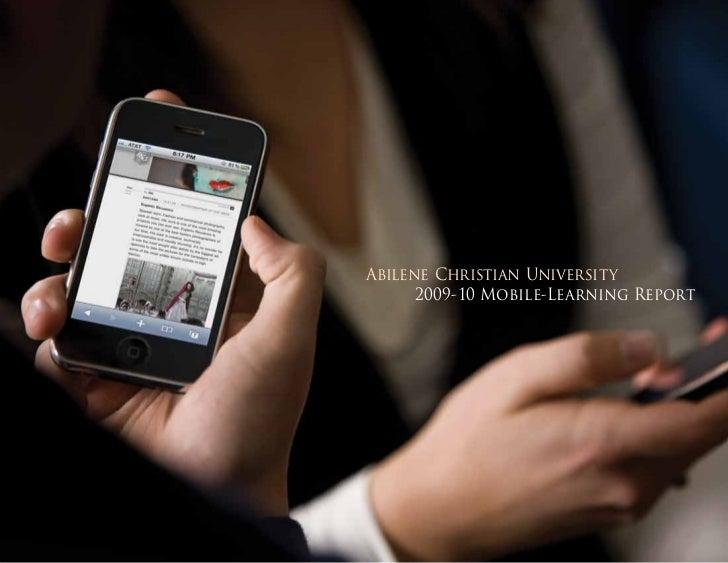 Abilene Christian University      2009-10 Mobile-Learning Report