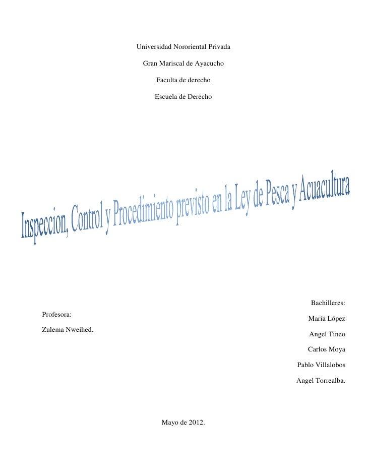 Universidad Nororiental Privada                    Gran Mariscal de Ayacucho                        Faculta de derecho    ...