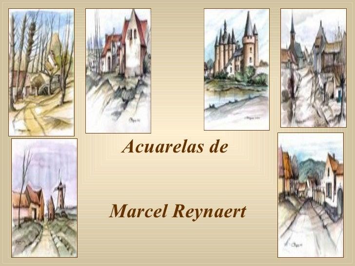 Acuarelas de  Marcel Reynaert