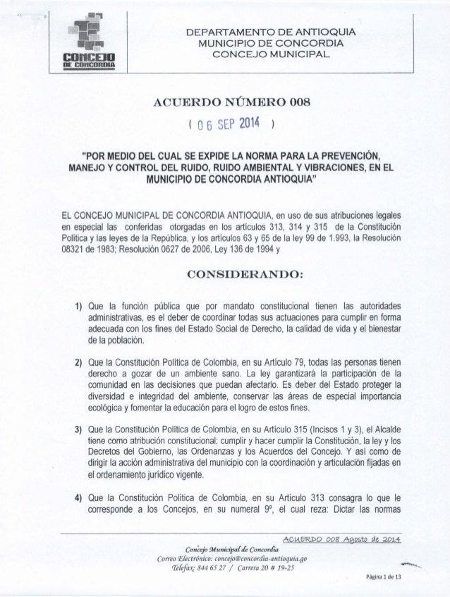 DEPARTAMENTO DE ANTIOQUIA MUNICIPIO DE CONCORDIA CONCEJO MUNICIPAL               n  m:  cnh Inn¡     ACUERDO NÚMERO 008 l ...