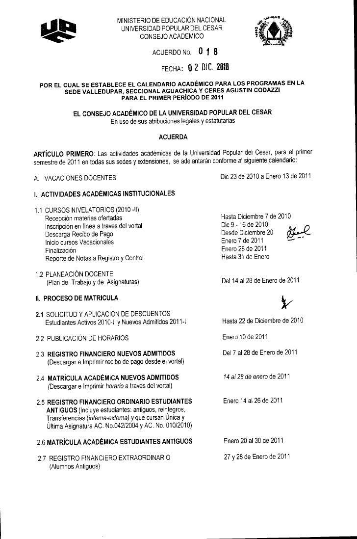 011                                 MINISTERIO DE EDUCACIÓN NACIONAL                                  UNIVERSIDAD POPULAR ...
