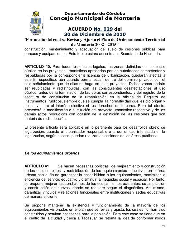 Acuerdo 029 diciembre 30 del 2010 for Validez acuerdo privado clausula suelo
