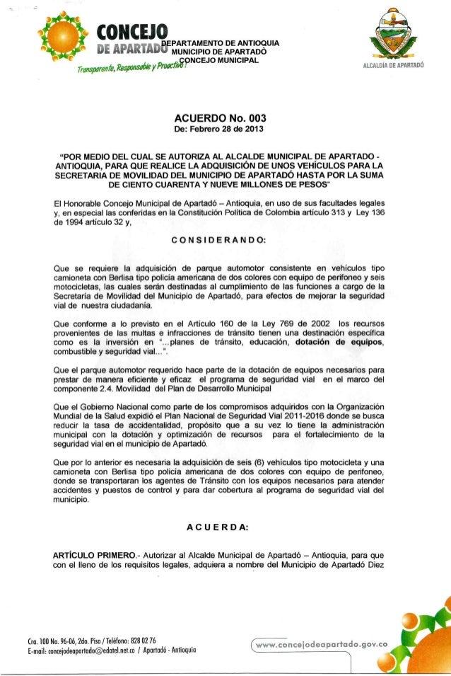 Acuerdo 03  2013