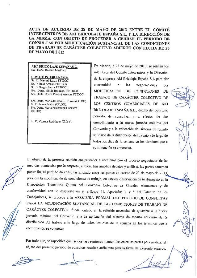 Acuerdo 28 de mayo 2013