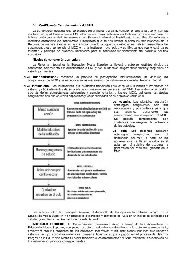 4  IV. Certificación Complementaria del SNB: La certificación nacional que se otorgue en el marco del SNB, complementaria...