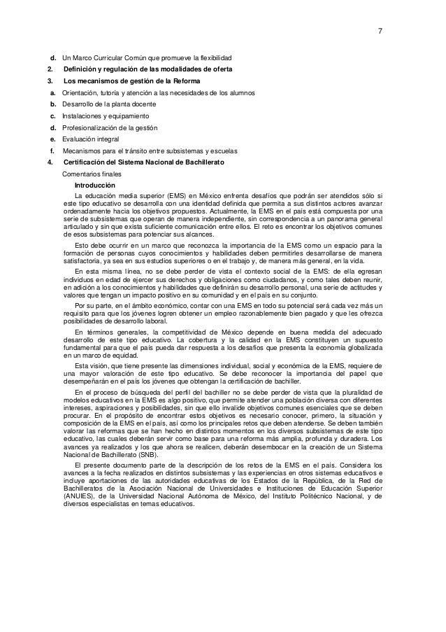 7  d. Un Marco Curricular Común que promueve la flexibilidad 2. Definición y regulación de las modalidades de oferta 3. L...