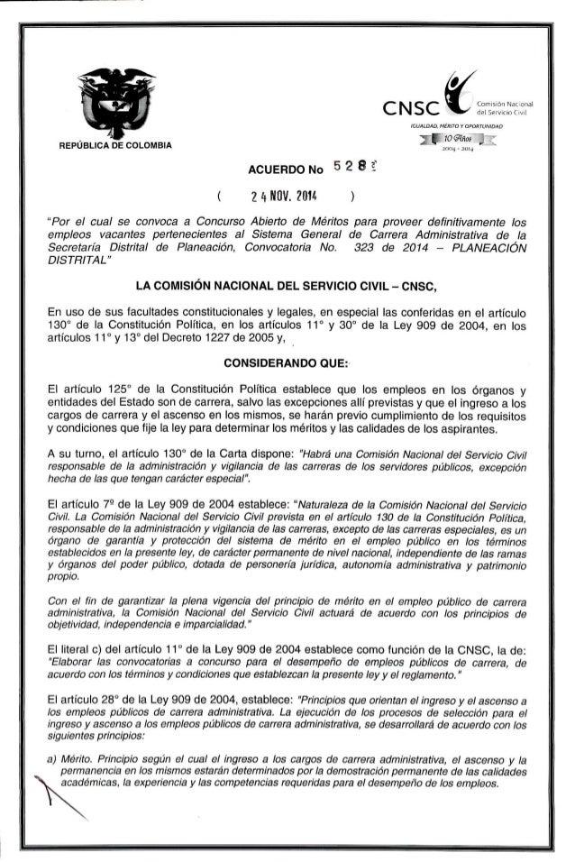 """C N  m' N Comisión Na:  onal A """"i del Servicio ( l/ II  IGUALDAD.  MÉRITO Y OPORTUNIDAD  ,   i"""" """"loan-ias  REPUBLICA DE CO..."""