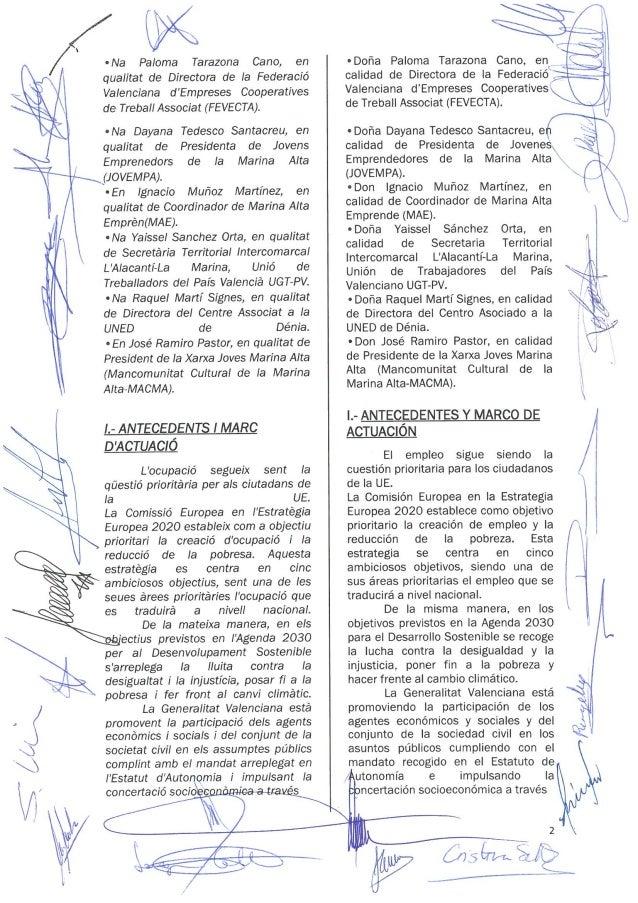 Acuerdo comarcal en materia de empleo Marina Alta Slide 3