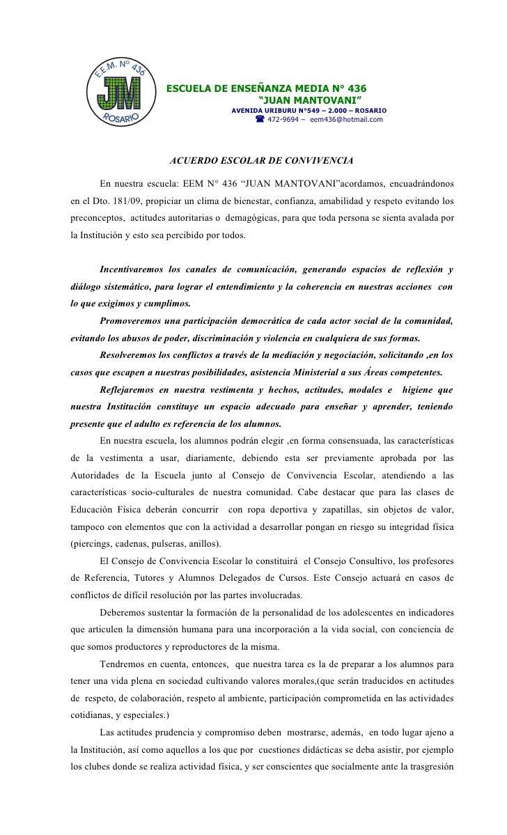 """ESCUELA DE ENSEÑANZA MEDIA N° 436                                         """"JUAN MANTOVANI""""                                ..."""