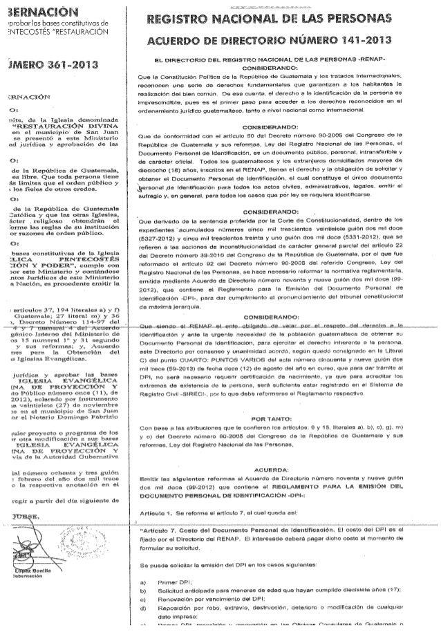 Acuerdo de directorio 144 2013 caso certi partida