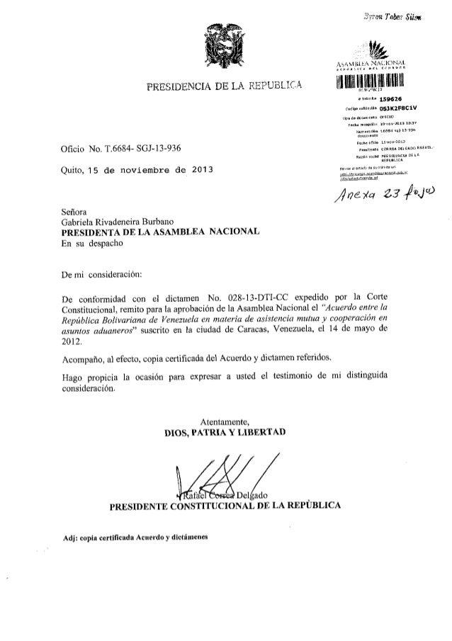 Acuerdo ecuador venezuela aduaneros