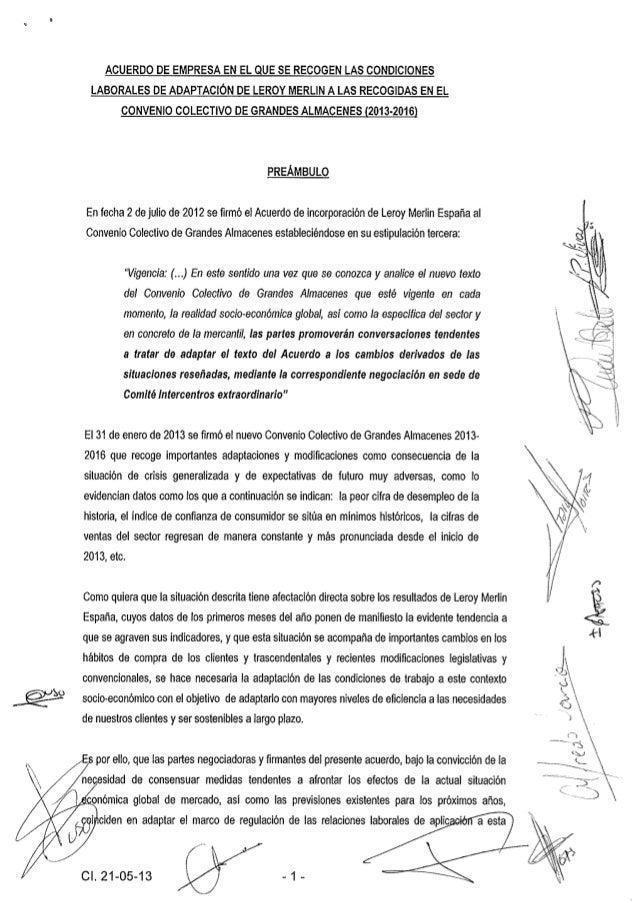 Acuerdo empresa leroy 2013