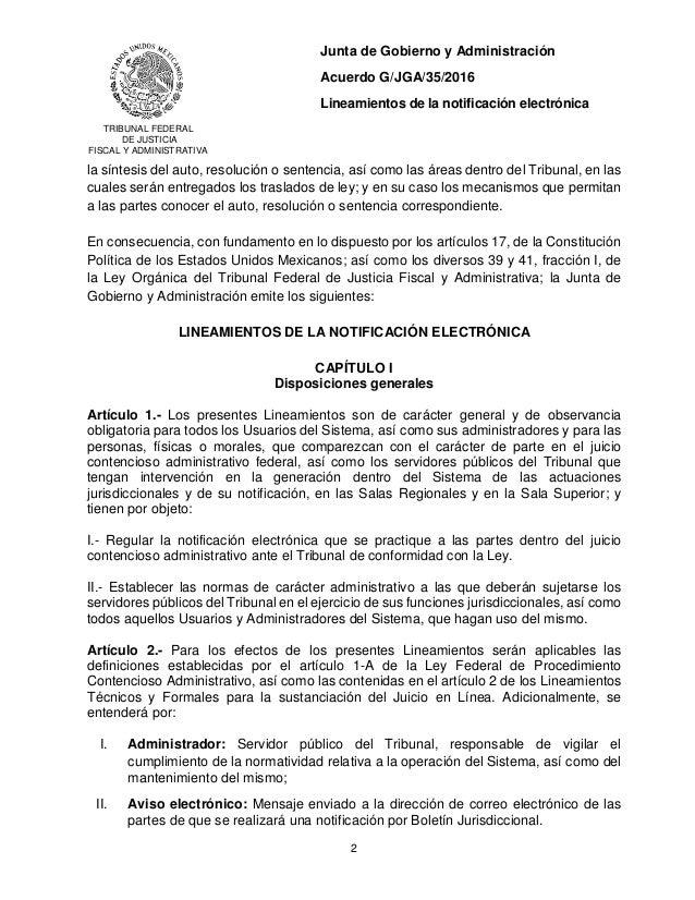 Acuerdo General G/JGA/35/2016 Slide 2