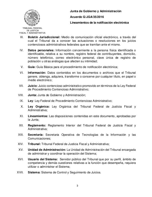 Acuerdo General G/JGA/35/2016 Slide 3