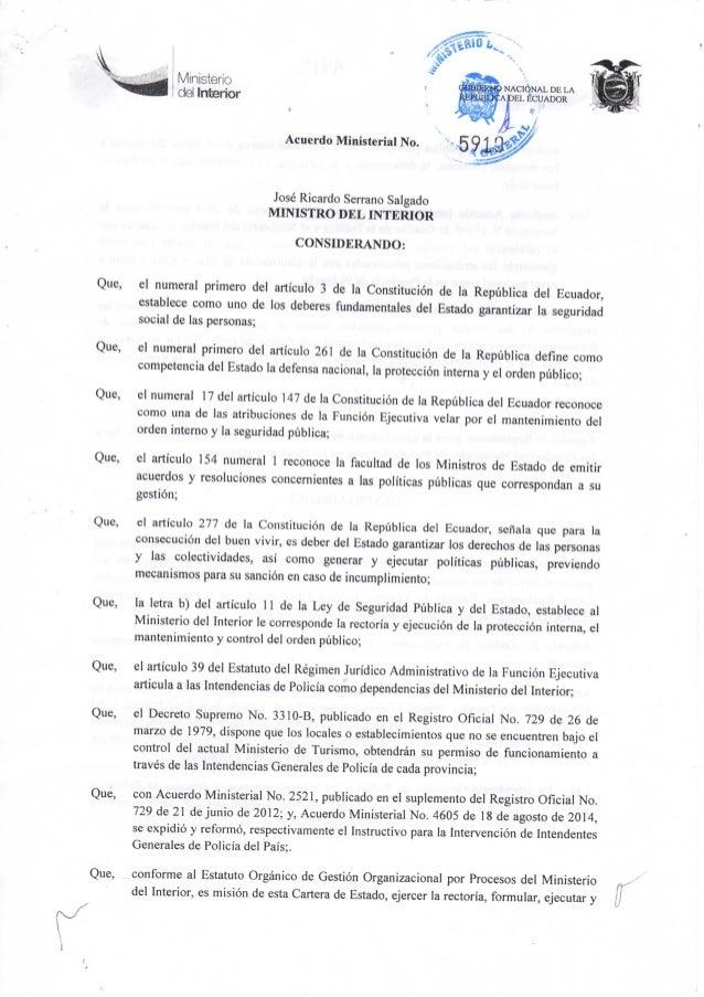 Acuerdo ministerial 5910