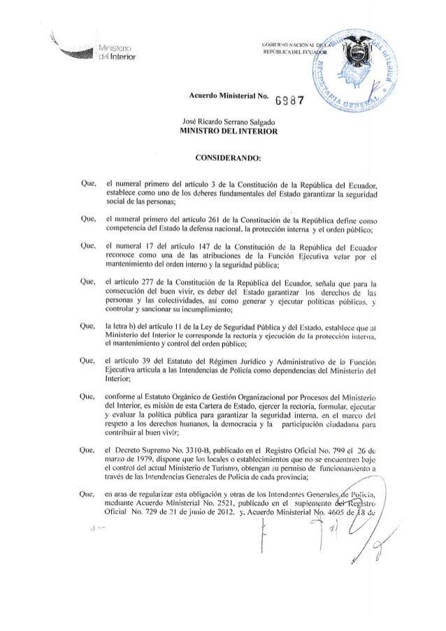 Acuerdo ministerial 6987 ministerio interior for Web ministerio interior