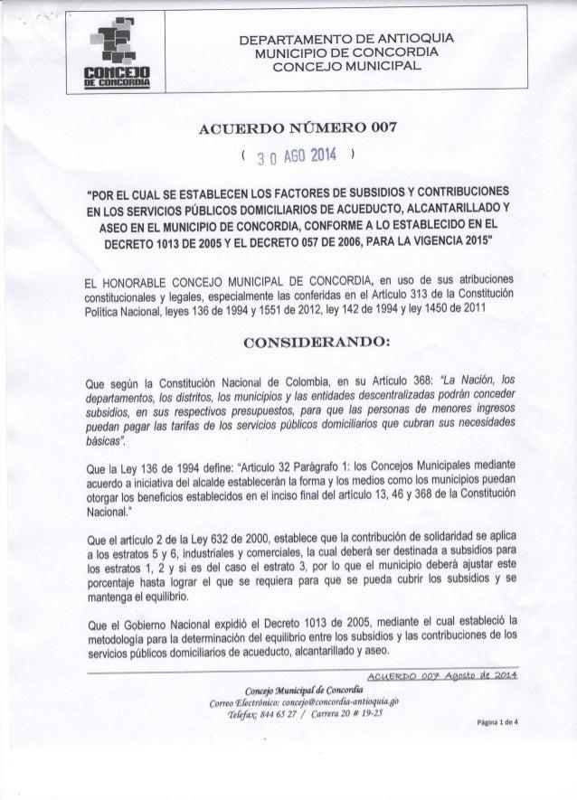 "l j' _i _ ÉlIifEBlÉIlI""  DE BIJHIIHRIJIA  DEPARTAMENTO DE ANTIOQUIA MUNICIPIO DE CONCORDIA CONCEJO MUNICIPAL              ..."