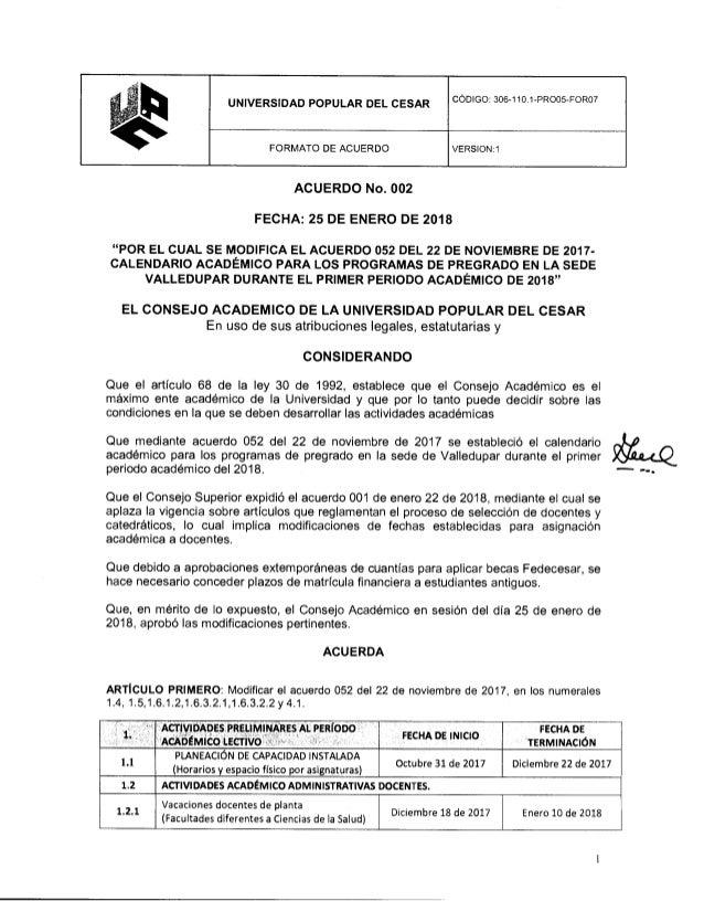 Calendario Fisico.Calendario Academico Upc 2018 1