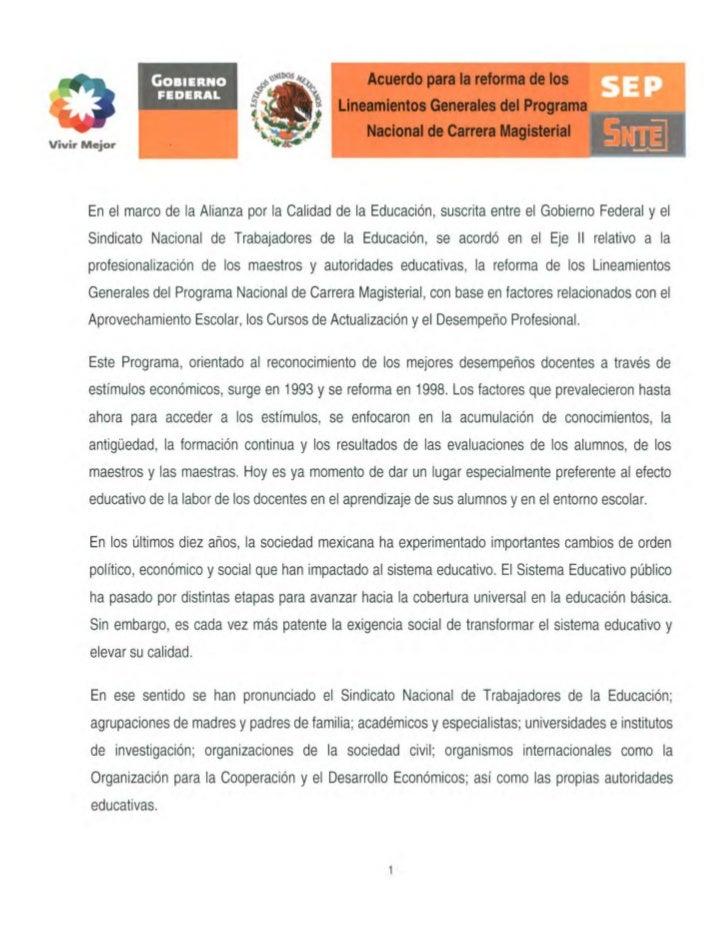 GOBIERNO                            Acuerdo para la reforma de los                 FEDERAL                                ...