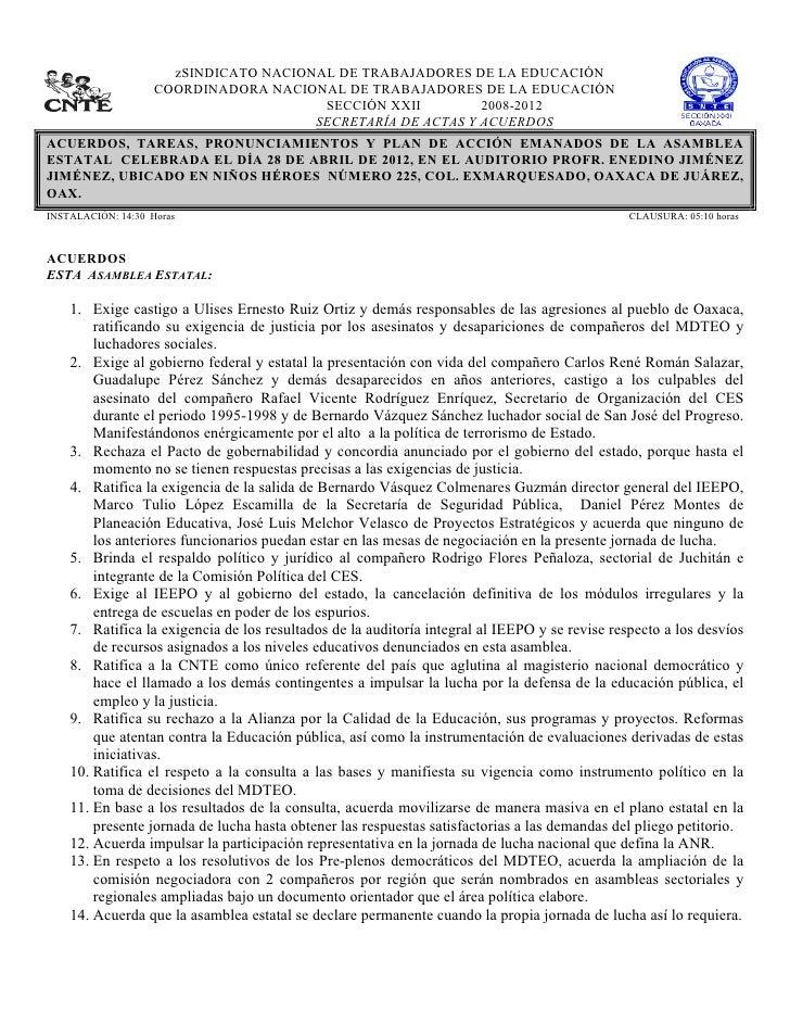 zSINDICATO NACIONAL DE TRABAJADORES DE LA EDUCACIÓN                    COORDINADORA NACIONAL DE TRA...