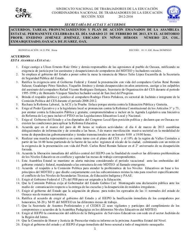 SINDICATO NACIONAL DE TRABAJADORES DE LA EDUCACIÓN                                     COORDINADORA NACIONAL DE TRABAJADOR...