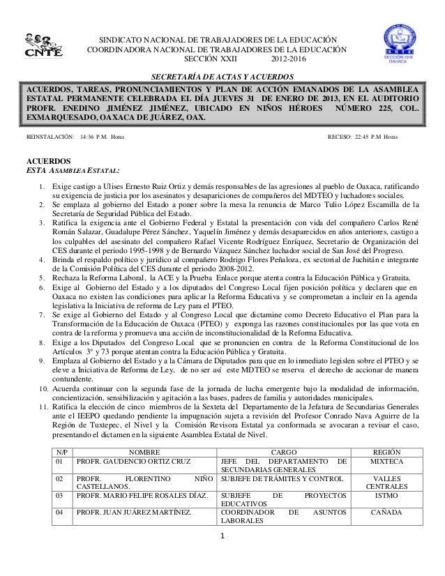 SINDICATO NACIONAL DE TRABAJADORES DE LA EDUCACIÓN                   COORDINADORA NACIONAL DE TRABAJADORES DE LA EDUCACIÓN...