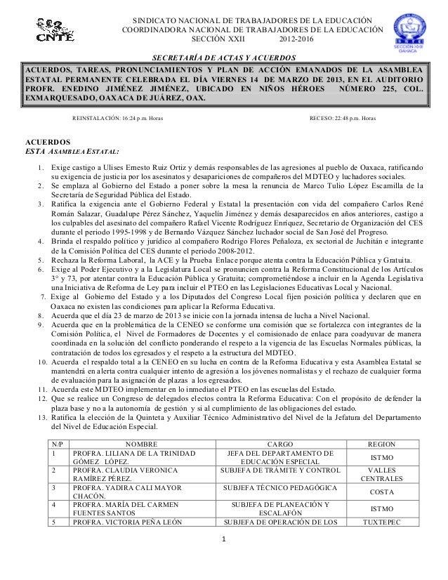 SINDICATO NACIONAL DE TRABAJADORES DE LA EDUCACIÓN                                   COORDINADORA NACIONAL DE TRABAJADORES...