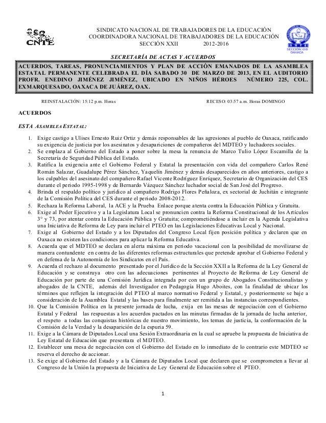 SINDICATO NACIONAL DE TRABAJADORES DE LA EDUCACIÓN                                  C...