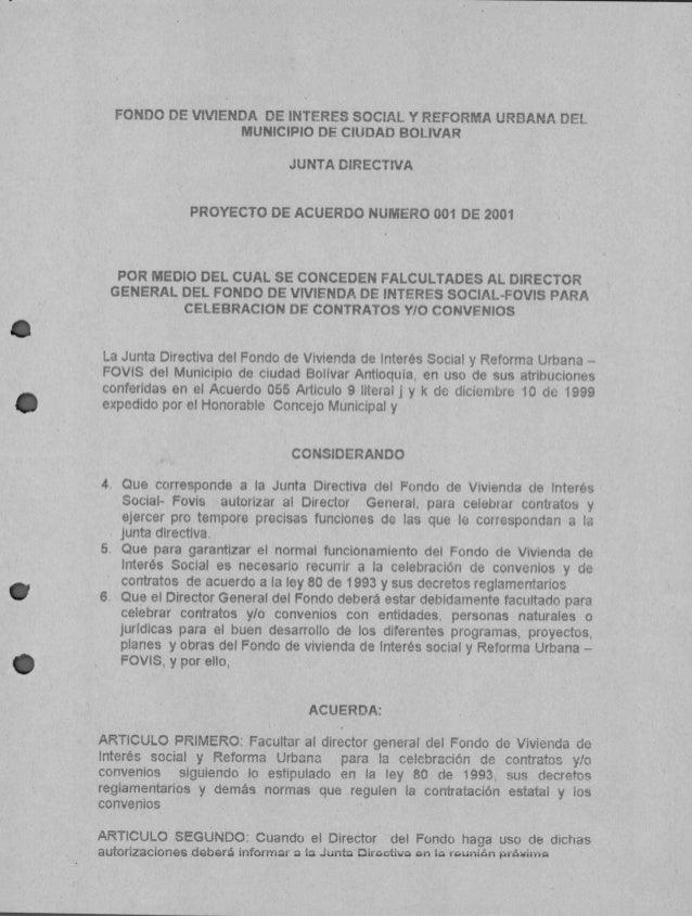 FONDO DE VIVIENDA DE INTERES SOCIAL Y REFORMA URBANA DEL                     MUNICIPIO DE CIUDAD BOLIVAR                  ...