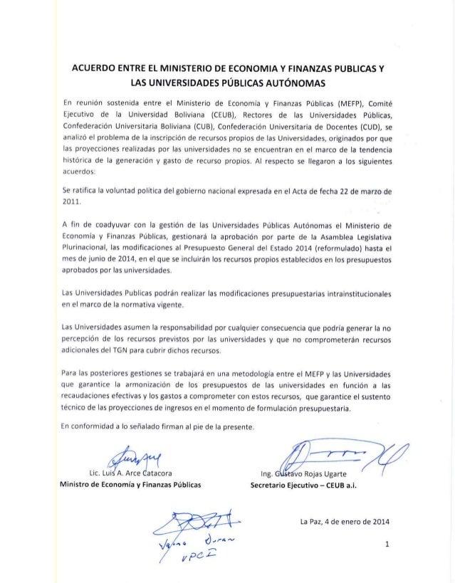 Acuerdo entre el Ministerio de Economía y las Universidades