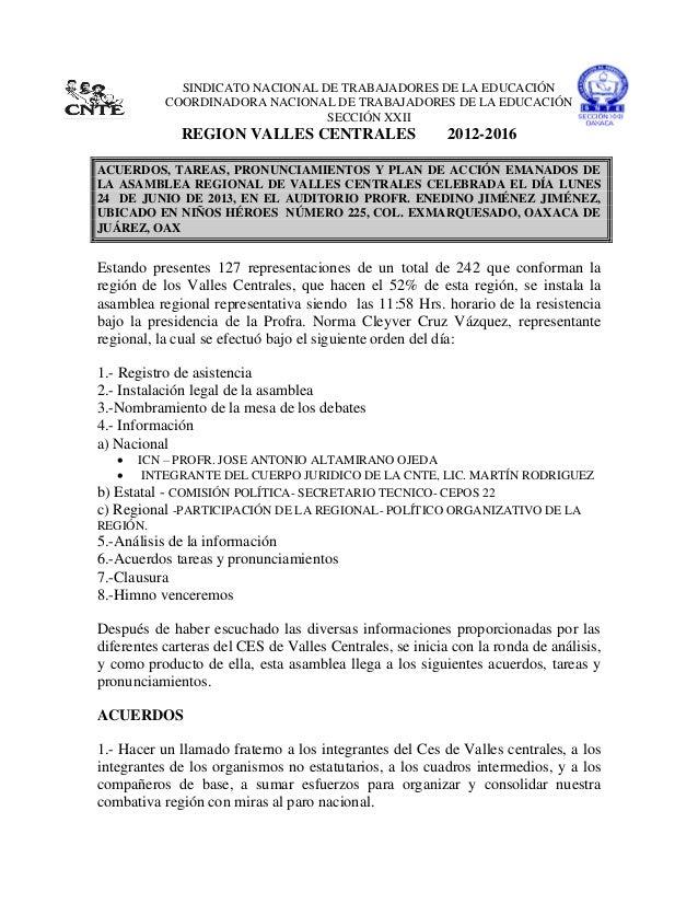 SINDICATO NACIONAL DE TRABAJADORES DE LA EDUCACIÓNCOORDINADORA NACIONAL DE TRABAJADORES DE LA EDUCACIÓNSECCIÓN XXIIREGION ...
