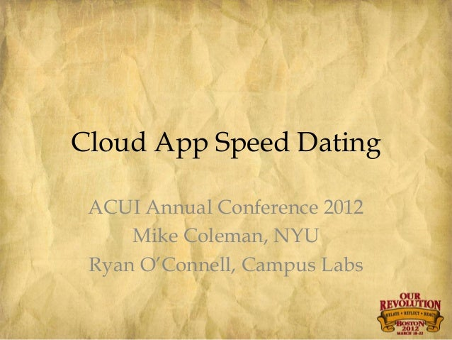 Nyu speed dating