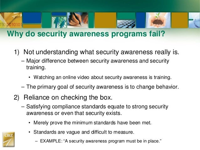 What Is A Security Awareness Program