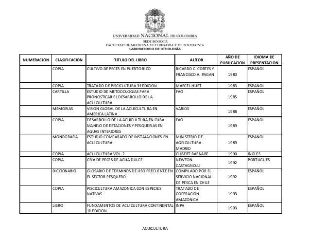 COPIA CULTIVO DE PECES EN PUERTO RICO RICARDO C. CORTES YFRANCISCO A. PAGAN 1980ESPAÑOLCOPIA TRATADO DE PISCICULTURA 3º ED...