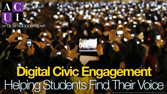 DigitalCivicEngagement HelpingStudentsFindTheirVoice w/Dr.@PaulGordonBrown Image Credit: AP (http://www.businessinsider.co...
