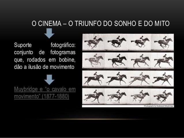 O CINEMA – O TRIUNFO DO SONHO E DO MITOSuporte         fotográfico:conjunto de fotogramasque, rodados em bobine,dão a ilus...