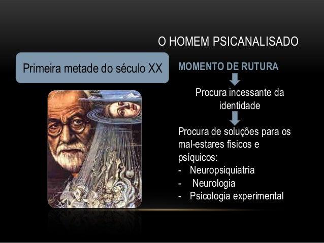 O HOMEM PSICANALISADOPrimeira metade do século XX   MOMENTO DE RUTURA                                   Procura incessante...