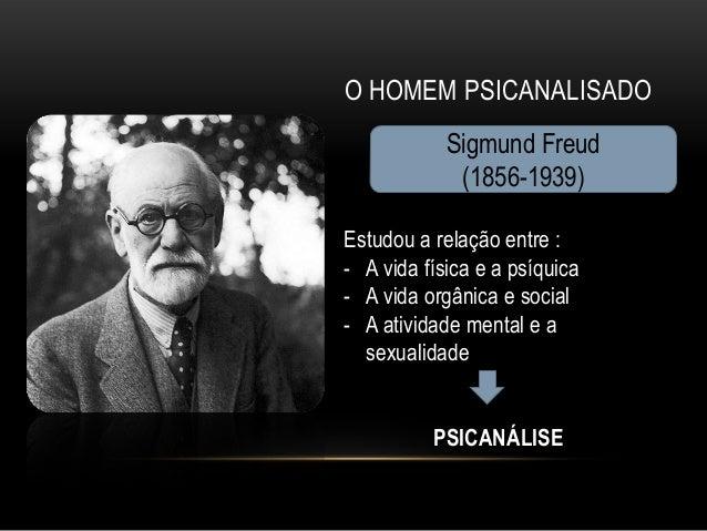 O HOMEM PSICANALISADO            Sigmund Freud             (1856-1939)Estudou a relação entre :- A vida física e a psíquic...